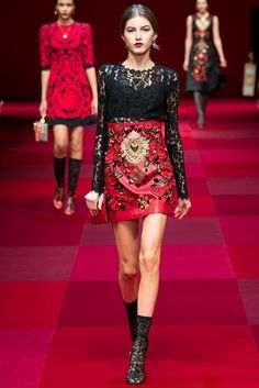 Dolce & Gabbana Spring 2015 Ready-to-Wear Fashion Show - Valery Kaufman