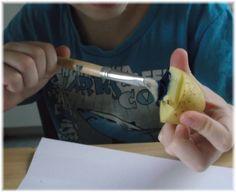 Basteln mit Kartoffelstempeln