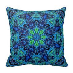 Mandala So Blue 04-21 - Modern Pillows