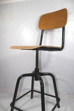 Sgabello INDUSTRIAL-CHIC/Vintage Stool/Hoker/Apothec/Urban/Bauhaus/Bar Stool