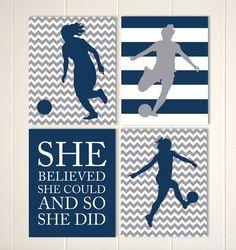 girls motivational soccer art - Google Search