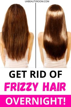 How to Stop Frizzy Hair After Washing- Before and After Results