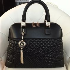 Versace Athena quilted barocco vanitas bag Like new Versace purse. Bought in December . Comes with authenticity card and original receipt. Bought for $2675+tax. Willing to trade for another designer bag.... Versace Bags Satchels