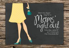 Moms' Night Out Invitation  Digital File Only by TeacupOfBlessings