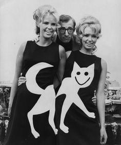 Woody Allen mit Katzen