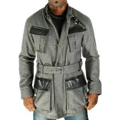 SEAN JOHN P. Diddy Men Zip Snap Closure Heavyweight Leather Accented Wool Peacoat Coat (Apparel) http://postteenageliving.com/amazon.php?p=B00635I5CG