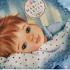 Márcia Sueli Medeiros Eye Painting, Fabric Painting, Image Mix, Gift From Heaven, Boy Pictures, Baby Birth, Angel Art, Art Pages, Doll Face
