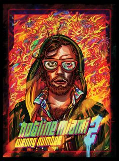 official Hotline Miami 2: Wrong Number coverdigital painting