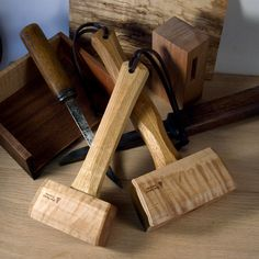 Some woodworkers prefer a traditional Joiner's mallet style with angled square faces over the round carver's mallet style. Blue Spruce Toolworks offers two of t