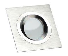 1x - 10x LED-Einbaustrahler DIMMBAR 5W Glas Spot Aluminium 230V / GU10 LUXVENUM®