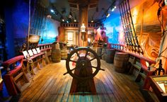 Swashbucklers, hoist your sails and head for the artifact-packed St. Augustine Pirate & Treasure Museum in St. Augustine, Florida. This is the only place in the world to display an authentic pirate's treasure chest (property of Captain Thomas Tew roughly 400 years ago).