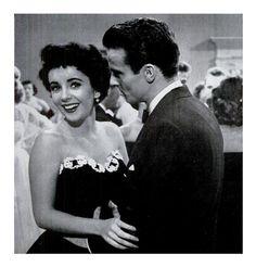 """Elizabeth Taylor & Montgomery Clift en """"Un Lugar en el Sol"""" (A Place in the Sun), 1951"""
