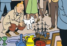 De 9de editie van de Vlooienmarkt heeft als thema Hergés oeuvre