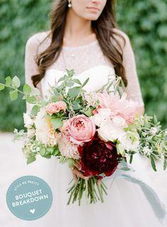 Elegant summer bouquet: http://www.stylemepretty.com/2015/08/22/bouquet-breakdown-elegant-seaside-belle-mer-wedding/   Photography: Anchor & Grace - http://anchorandgrace.com/