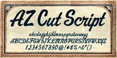 https://www.myfonts.com/fonts/artistofdesign/az-cut-script/