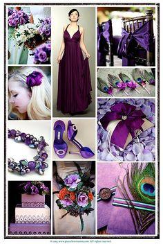 purple/peacocks. I like the invitations ( bottom right)