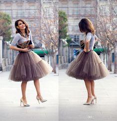 b9c1a16461 Best Spring Skirt Knee Length Pretty Women Girl Tulle Adult Tutu Layeredr  Mini Skirt A Line