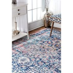 nuLOOM Distressed Vintage Faded Floral Rug (8' x 10') - Free Shipping Today - Overstock.com - 20705955 - Mobile