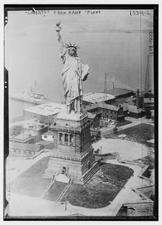 Library Of Congress, Statue Of Liberty, Plane, The Past, Army, Country, Retro, Urban, Statue Of Liberty Facts