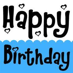 Letras Happy Birthday con animación