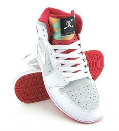 04004ed0e8d9d9 Air Jordan 1 Retro Premier Hare ➖ Light Silver ➖ White ❌ True Red Jordan  Shoes