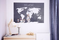 DIY/Interior: Tagging a World Map with your favorite Pictures
