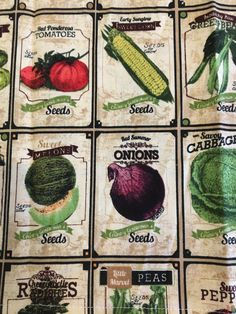 Excited to share the latest addition to my #etsy shop: Vegetable Seed Packets (4) Cloth/Fabric Dinner Napkins https://etsy.me/2HOJmyY #housewares #beige #housewarming #square #cotton #vegetables #veggies #clothnapkins #fabricnapkins