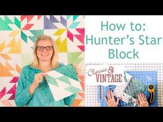 Hunter's Star Quilt Block - Classic & Vintage Quilt Series - Fat Quarter Shop Star Quilt Blocks, Star Quilt Patterns, Star Quilts, Pattern Blocks, Square Patterns, Block Patterns, Mini Quilts, Fat Quarter Quilt, Fat Quarter Shop