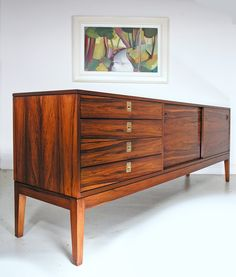 Robert Heritage rosewood sideboard for Archie Shine - Heals 1960s. www.midcenturyhome.co.uk