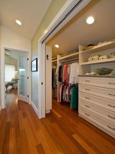 Hidden closet space. A sliding pocket door in the hallway - Brilliant!