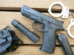 In the event of a burglary or home invasion robbery, you want to be prepared to take on whatever criminal has broken into your home - whether they're rob. S&w 9mm, 9mm Pistol, M&p Shield, Night Sights, Smith N Wesson, Home Protection, Home Defense, Julianne Moore, Cool Guns