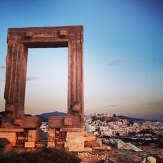 Ancient sites on the island of Naxos in Greece