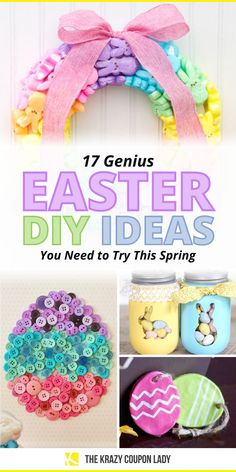 Looking for fun DIY Easter crafts for kids? Look no further! The Krazy Coupon Lady has found all the best Easter DIY crafts for you and for the kids. Wondering what to do with all the Peeps, how to use up plastic Easter eggs, creative easter basket alternatives, what to put in plastic Easter eggs that's not candy, how to make cute DIY Easter decor, or unique ideas for how to decorate or dye Easter eggs? Gotcha right here! Plastic Easter Eggs, Easter Egg Dye, Easter Crafts For Kids, Easter Ideas, Homemade Crafts, Diy Crafts, Do It Yourself Organization, Easter Flowers, Coupon Lady