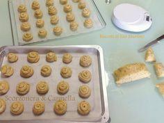 I biscotti di San Martino di Scorzonera&Cannella pronti per essere infornati