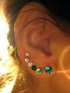 Beautiful earrings & you dont need all the extra holes!