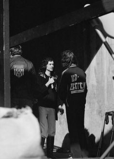 Jimmy Page and roadie.....