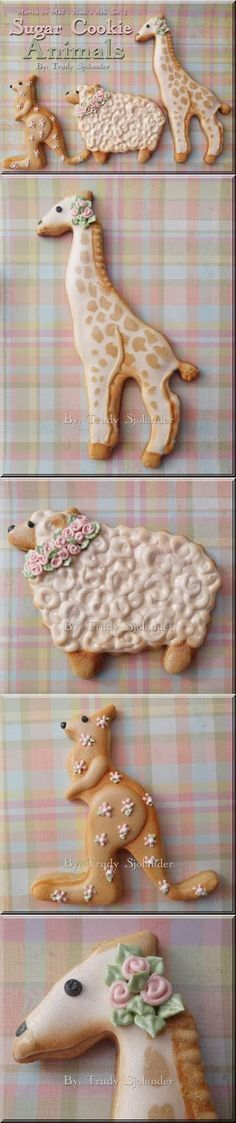 True's Gift's From the Heart: Martha by Mail Noah's Ark Animal Cookies---And I do like hers better thqn Martha's original designs.Luv the kangaroo Fancy Cookies, Iced Cookies, Cute Cookies, Sugar Cookies, Cut Out Cookies, Cupcakes, Cupcake Cookies, Giraffe Cookies, Cookie Icing