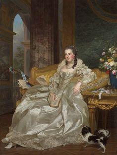 """ Comtesse d'Egmont Pignatelli "" ( 1763 ) - Click to go back ..."