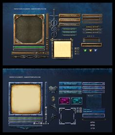 Fantasy Game UI by karsten on DeviantArt