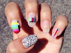 i heart nail art decals