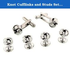 Knot Cufflinks and Studs Set for Tuxedo by Men's Collections. Made with highest quality solid surgical metal setting for the everlasting shine. These cufflinks look absolutely stunning, are weighted perfectly and are certainly only for those special occasions. Men's Collections gives a 5 year warranty on these studs.