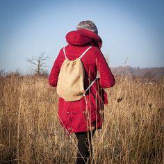 Jute Drawstring Backpack /Jute Gymbag Gymsac /Jute by RUKAMIshop