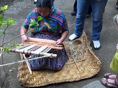 Lidia Lopez Teaching the Art of Backstrap Loom Weaving - YouTube