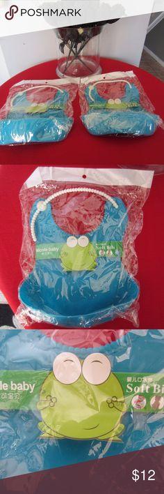Bibs Baby Soft Food Catcher 2 New Baby Nicole Adjustable Bibs. Pvc & Pba Free. 2 Blue. New in Wraps. Nicole Baby Accessories Bibs