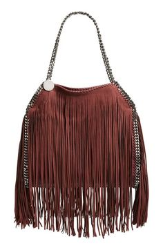 Love this by STELLA MCCARTNEY 'Small Falabella' Fringe Tote - $2185
