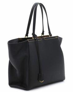 7680d6c6cfb3 Fendi Trois-Jour Grande Leather Tote Bag
