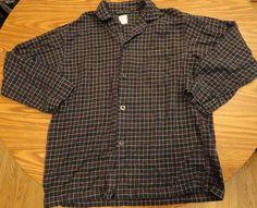 Mens Brooks Brothers Plaid Flannel 2-Piece Pajama Set Button Shirt & Pants Sz M #BrooksBrothers #PajamaSets