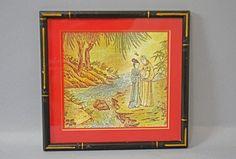 Vintage Asian Picture Asian Décor Asian Print by Vintassentials