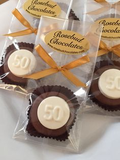 Chocolate #50 Oreo Cookie Favors... Fiftieth Anniversary or Birthday Party