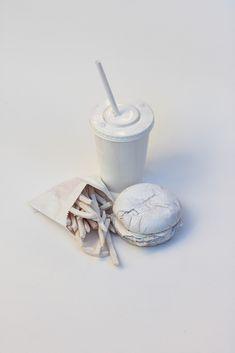 white fast food, design, still life Food Design, Art Et Design, Design Set, Graphic Design, Still Life Photography, Art Photography, Product Photography, High Key Photography, Contrast Photography